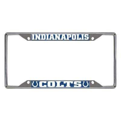 NFL - Indianapolis Colts Chromed Stainless Steel License Plate Frame