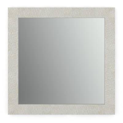 33 in. W x 33 in. H (L2) Framed Square Standard Glass Bathroom Vanity Mirror in Stone Mosaic