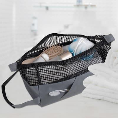 All Purpose Sport Mesh Tote Bag in Charcoal