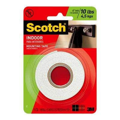 1 in. x 1.52 yds. Permanent Double Sided Indoor Mounting Tape