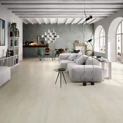 Forte White 32 in. x 32 in. x 10mm Natural Porcelain Floor and Wall Tile (2 pieces / 13.77 sq. ft. / box)