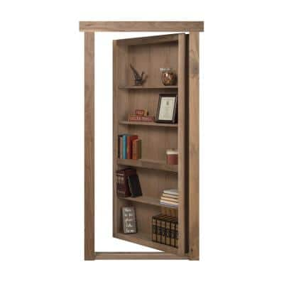 4 in. x 1.5 in. x 0.25 in. Steel Black Powder Coated Flush Mount Hidden Bookcase Door Hardware with Removable Pin