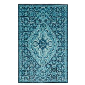 Hayden Medium Blue 8 ft. x 10 ft. Indoor Area Rug