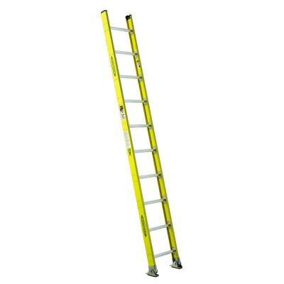 10 ft. Fiberglass Round Rung Straight Ladder with 375 lb. Load Capacity Type IAA Duty Rating