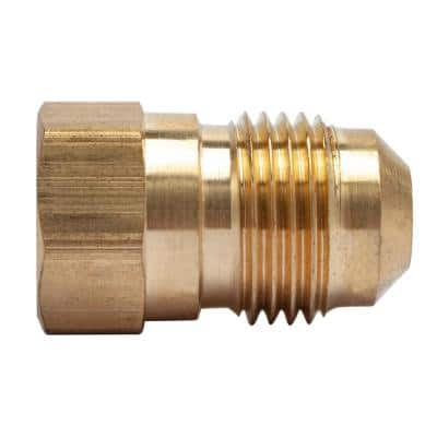 3/8 in. OD Flare x 1/4 in. FIP Brass Adapter Fitting (5-Pack)