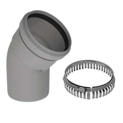 2 in. in Diameter 45-Degree Polypropylene Elbow Venting for Water Heater