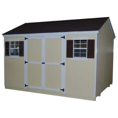 Value Workshop 10 ft. x 12 ft. Wood Shed Precut Kit with Floor