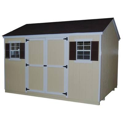 Value Workshop 12 ft. x 14 ft. Wood Shed Precut Kit with Floor