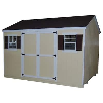 Value Workshop 8 ft. x 10 ft. Wood Shed Precut Kit with Floor