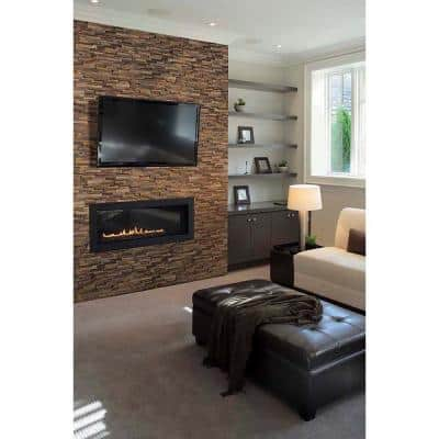 Three Rivers Gold Ledger Panel 6 in. x 24 in. Natural Slate Wall Tile (4 sq. ft./Case)