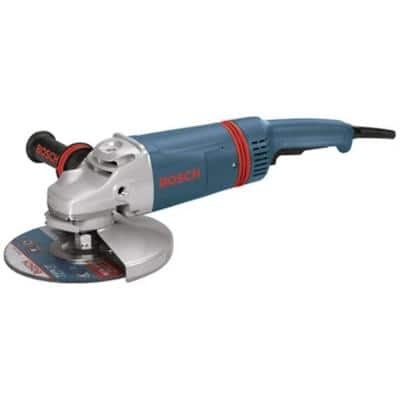 15 Amp Corded 9 in. Large Angle Grinder with Guard Kit (2 Accessories)
