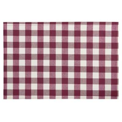 Buffalo Check 18 in. x 12 in. Reds / Pinks Burgundy Checkered Cotton/Polyester Placemats (Set of 4)