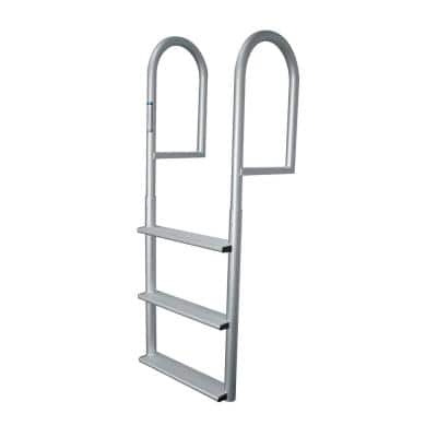 3 Step Wide Rung Aluminum Dock Ladder