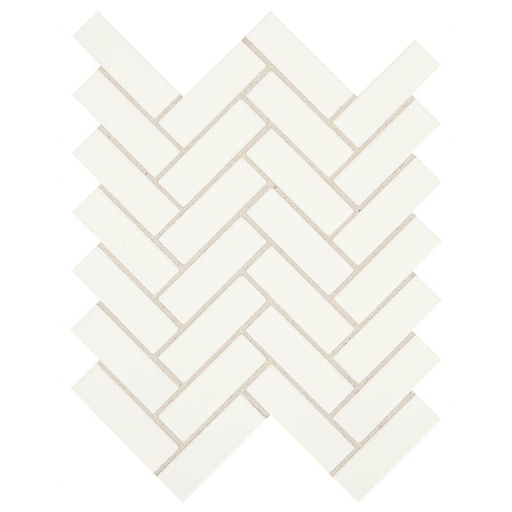 daltile restore bright white 9 in x 12 in x 6 35 mm ceramic mosaic wall tile 0 6 sq ft each re1613herhd1p2 the home depot