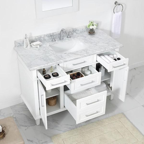 Home Decorators Collection Sonoma 48 In, White 48 Inch Bathroom Vanity