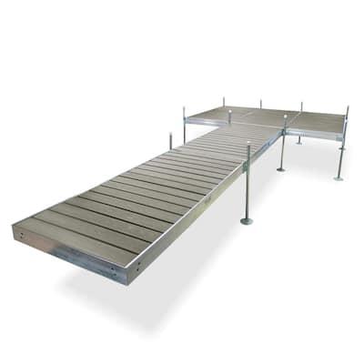 24 ft. L 8 ft. x 12 ft. Platform Style Aluminum Frame with Decking Complete Dock Package