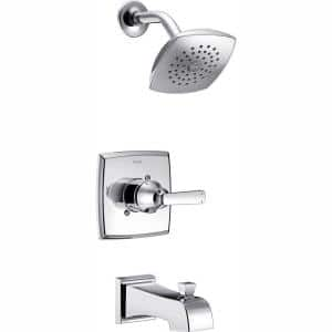 Ashlyn 1-Handle Pressure Balance Tub and Shower Faucet Trim Kit in Chrome (Valve Not Included)