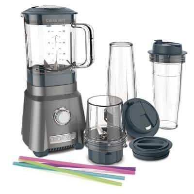 Hurricane 32 oz. 3-Speed Brushed Chrome Compact Juicing Blender