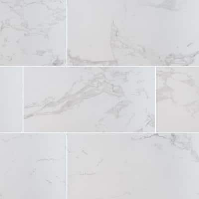 Praia Carrara 24 in. x 48 in. Matte Porcelain Floor and Wall Tile (7 cases/112 sq. ft./pallet)