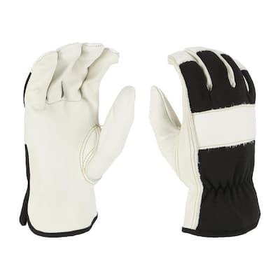 Men's Large Grain Cowhide Leather Driver Gloves