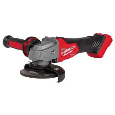 M18 FUEL 18-Volt Lithium-Ion Brushless Cordless 4-1/2 in./5 in. Grinder with Slide Switch (Tool-Only)