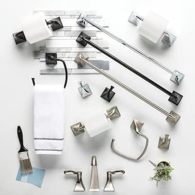 Everly 4-Piece Bath Hardware Set in SpotShield Brushed Nickel