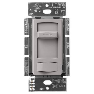 Skylark Contour 1.5-Amp Single-Pole/3-Way Quiet 3-Speed Fan Control, Gray