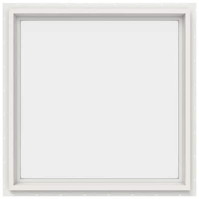 29.5 in. x 29.5 in. V-4500 Series White Vinyl Picture Window w/ Low-E 366 Glass