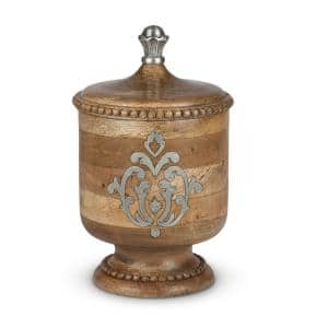 Wood and Metal Small Canister