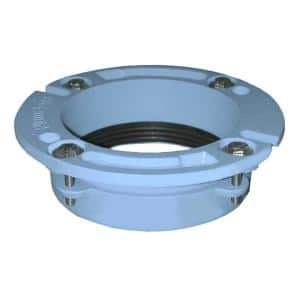 3 in. x 2 in. No Caulk Code Blue Cast Iron Water Closet (Toilet) Flange for Cast Iron or Plastic Pipe