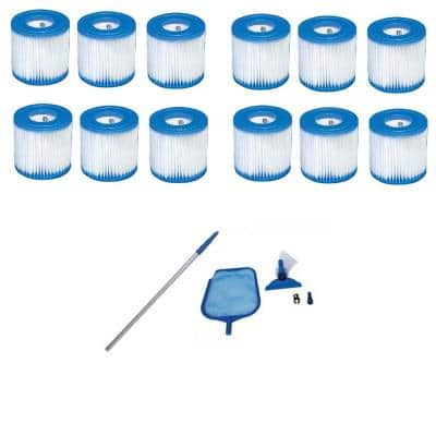 Type H Filter Replacement 0 sq. ft. Cartridges 12 and Cleaning Maintenance Kit