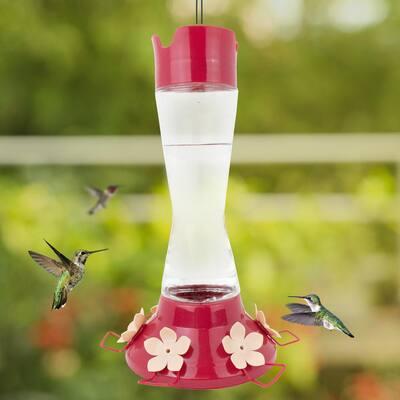 Top-Fill Pinch Waist Glass Hummingbird Feeder - 20 oz. Capacity