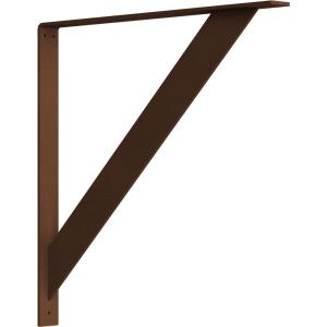 2 in. x 24 in. x 24 in. Steel Hammered Copper Traditional Bracket