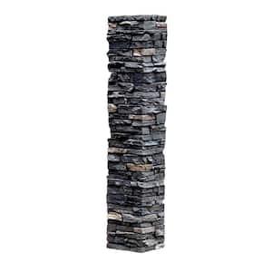 Slatestone 8 in. x 8 in. x 41 in. Midnight Ash Faux Polyurethane Stone Post Cover