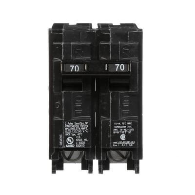 70 Amp Double-Pole Type MP Circuit Breaker