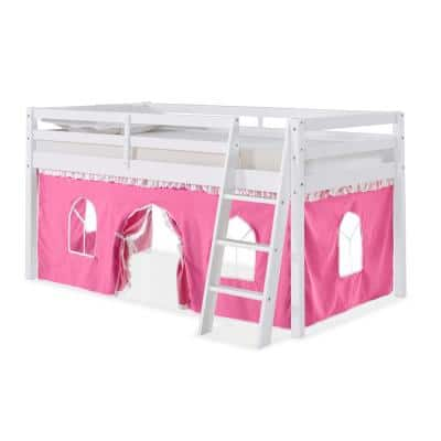 Roxy White with Pink and White Tent Twin Junior Loft