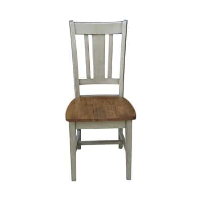 San Remo Hickory/Stone Solid Wood Chair (Set of 2)