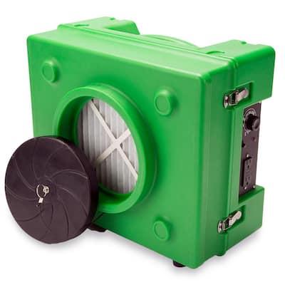 1/3 HP 2.5 Amp HEPA Air Scrubber Purifier for Water Damage Restoration Negative Air Machine in Green