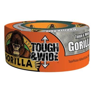 2.88 in. x 30 yds. Silver Tough and Wide Duct Tape (4-Pack)