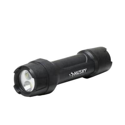 500 Lumens Tough Stainless Steel Core Multi-Setting LED Flashlight, Impact and Water Resistant with Batteries