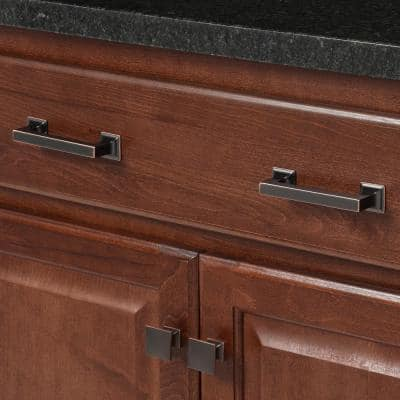Studio Collection 1-1/4 in. Oil-Rubbed Bronze Highlighted Cabinet Knob