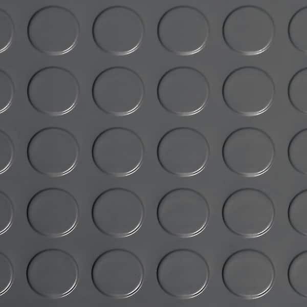 G Floor Coin 10 Ft X 24 Slate Grey, Vinyl Garage Flooring Rolls