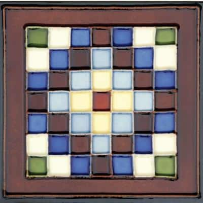 Hand-Painted Cuadros Deco 6 in. x 6 in. Ceramic Wall Tile (2.5 sq. ft. / Case)