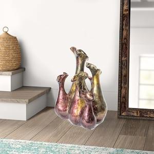 Shelly Burgundy Amber, Brown Ceramic Decorative Vase