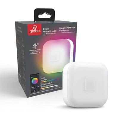 Wi-Fi Smart Ambient LED Night Light with Motion Detection, Multi-Color Changing RGB, Tunable White