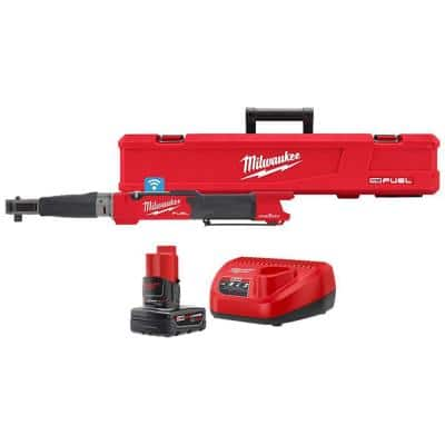 M12 FUEL One-Key 12-Volt Lithium-Ion Brushless Cordless 1/2 in. Digital Torque Wrench with 4.0 Ah Battery and Charger