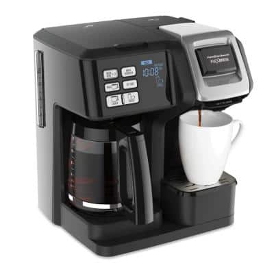 FlexBrew 2-Way 12-Cup Black Drip Coffee Maker with Built-In Timer