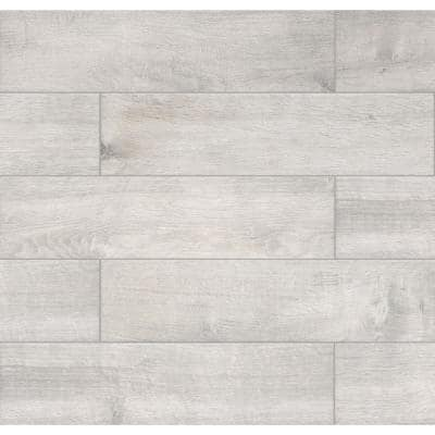 Westwood Liath Gray 8 in. x 24 in. Matte Porcelain Floor and Wall Tile (11.97 sq. ft. / Case)