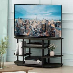 JAYA 42 in. Espresso Particle Board TV Stand Fits TVs Up to 44 in. with Open Storage