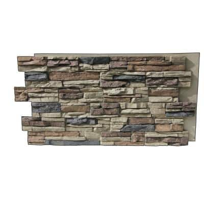 Lightning Ridge 48 in. x 24 in. Class A Fire Rated Faux Stone Siding Panel Finished Nature Spirit